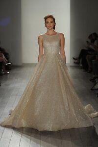 Glitter Lazaro 3714 Inspired Wedding Dress | eBay