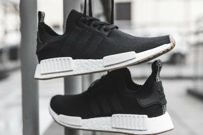 Adidas NMD R1 Primeknit PK GUM Pack Core Black White Boost Ultra BY1887 Mens 7.5