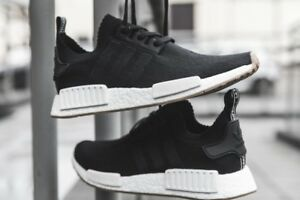c4592e587 Adidas NMD R1 Primeknit PK GUM Pack Core Black White Boost Ultra ...