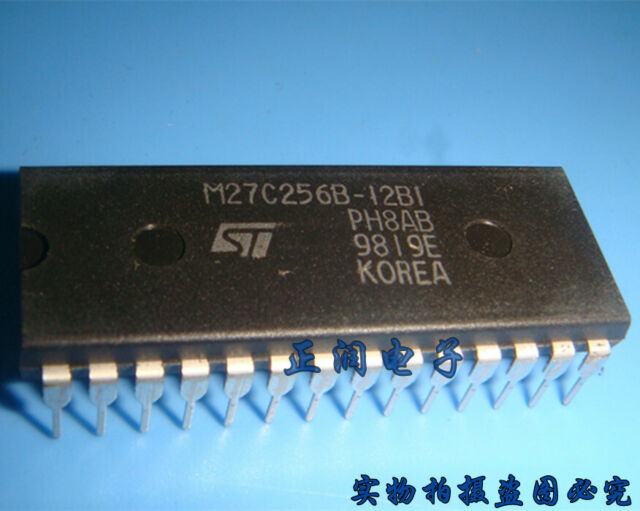 50pcs M27C256B-10F1 IC 256 Kbit 32 KO X 8 UV EPROM ST DIP-28