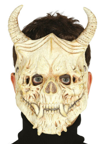 Halloween Gothic Demon Skull Mask with Horns