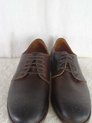 Robert Wayne Tf Giona Mens Brown Suede Casual Dress Lace Up Oxfords Shoes