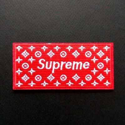 Supreme Embroidered Fashion Hypebeast Logo Logo Iron On Patch | EBay
