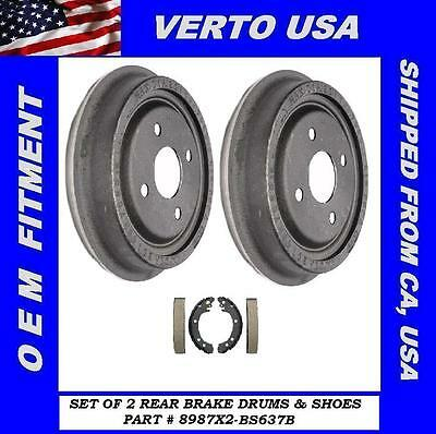 Verto USA Set Of 2 Brake Drums /& Shoes fit Saturn 8987X2-BS637B
