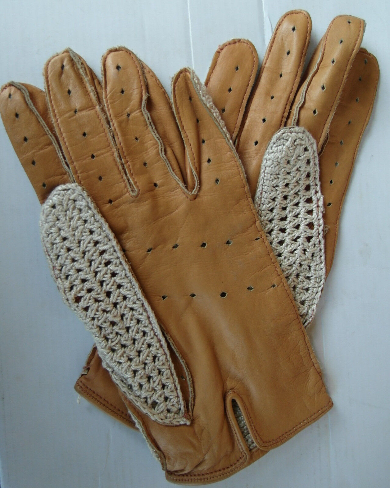 Guanti guida CROCHET driving gloves 8½ - 9 (L-XL) (L-XL) (L-XL) 0b4d71