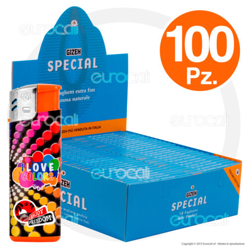 1 Box 5000 Cartine GIZEH SPECIAL Extra Fine Corte 100pz