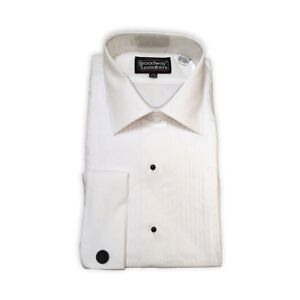top style top-rated real purchase newest Details about Mens 100% Cotton Tuxedo Shirt, Lay Down Collar & 1/4