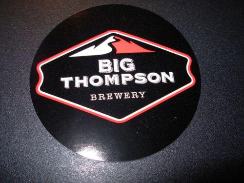 BIG THOMPSON BREWERY loveland colorado black cr STICKER decal craft beer brewing