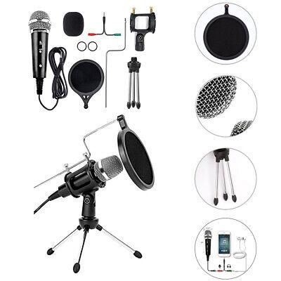 Profi Kondensator Mikrofon Studio Microphone mit Halterung Kit Für Stimmaufnahme