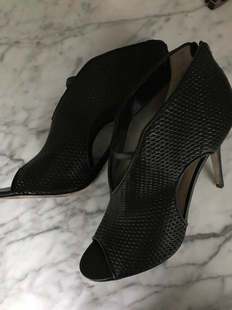 Jimmy Choo Open Toe 100 (4 ) Booties Black With GHW Sz. 40