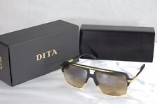 803eda9963d DITA MACH FOUR TITANIUM DRX 2070-A-BLK MATTE BLACK 18K GOLD BROWN SUNGLASSES