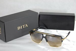 636143252bb1 DITA MACH FOUR TITANIUM DRX 2070-A-BLK MATTE BLACK 18K GOLD BROWN ...