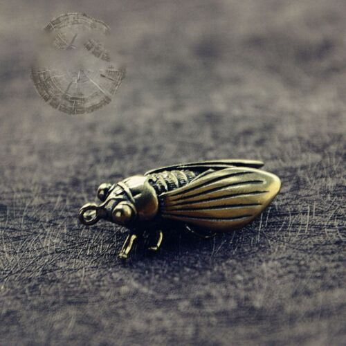 5pcs Key Pendant Retro Cicada Keychain Pendants Jewelry Accessory for Necklace