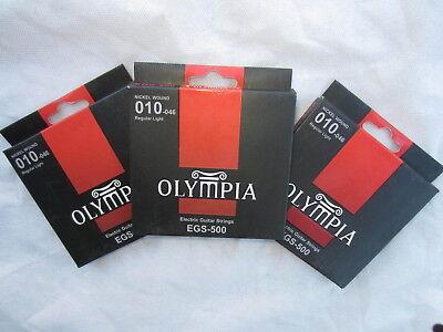 Olympia Elecrtic-Guitar Strings 10-46 ga. EGS-500 Nickel Wound