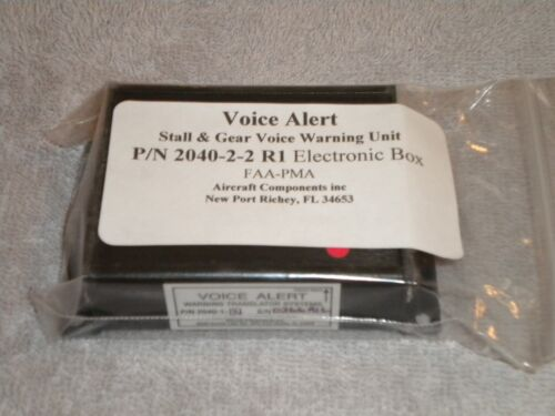 2040-1-2 Voice Alert Stall and Gear Warning Unit Aircraft Components W// Harness