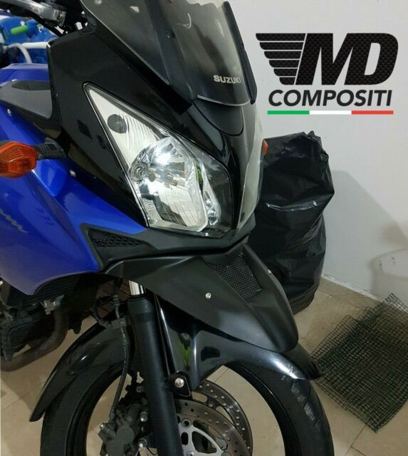 GUAIMI Estensione becco parafango ABS parafanghi anteriore moto per S-uzuki DL650 V-Strom ADV 2012-2017 Argento