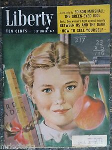 Liberty Magazine September 1947 Lawrence Butcher VINTAGE ADS