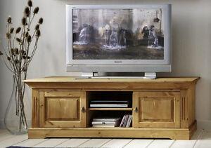 TV Lowboard Fernseh kommode schrank TV möbel Kiefer massiv holz ...