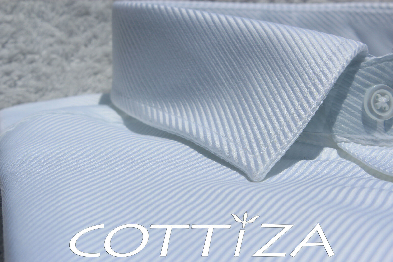 COTTIZA - 2 Ply 100% Egyptian Cotton  Herren Geschäft Formal Dress Shirt