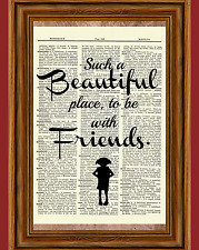 Dobby Quote Dictionary Art Print Harry Potter Beautiful Friends Picture Poster