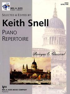"""piano Répertoire Baroque & Classique"" Niveau 5-cinq Snell Music Book Kjos-neuf!!!-oque & Classical"" Level 5-five Snell Music Book Kjos-new!! Fr-fr Afficher Le Titre D'origine"