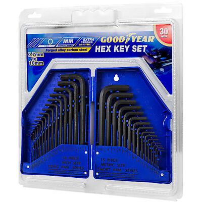 Goodyear 30 Piece Hex Key Allen Alan Allan Key Set Kit With Case Carbon Steel