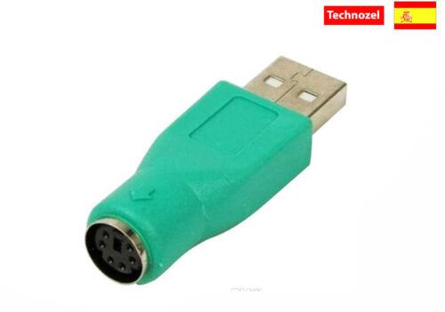 Conector Adaptador PS2 a USB Macho Usb to Ps2 connector Adaptor