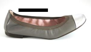 Pretty-Ballerinas-Stretch-Mirai-Plata-beige-mit-silberkappe-Gr-37-NEU