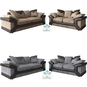 Dino Sofas Jumbo Cord And Leather Sofa