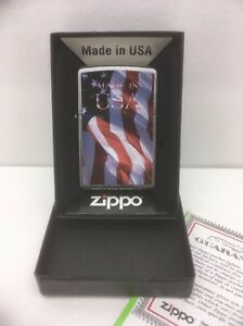 56e68f4920e Zippo Lighter 24797 Brushed Chrome Finish Made in the USA American ...