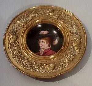 Assiette Porcelaine Laiton Repoussé Style Renaissance Xixème Portrait Féminin 1 Cdckdihn-10115024-554716512