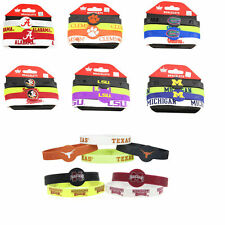 NCAA bracelet rubber wrist fan band 4 PACK silicone PICK YOUR TEAM