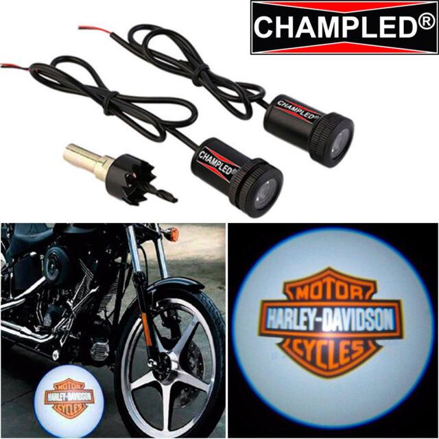 Led Light Logo Emblem Symbol Badge Step Courtesy Motorcycle Bike