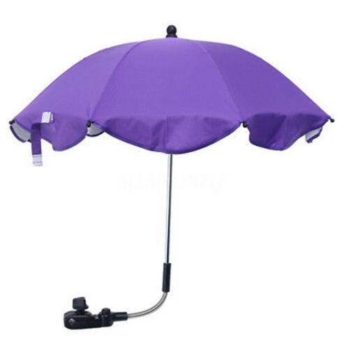 Universal Baby Stroller Wheelchair Pushchair Sun Rain Parasol Umbrella With Clip