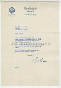 Earl-Warren-Governor-California-Warren-Commission-JFK-Signed-Letter-1944