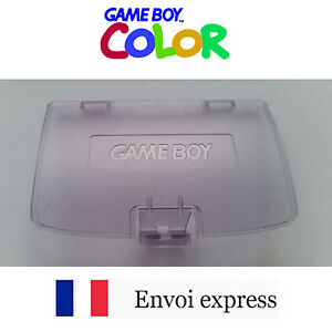 Cache Pile Violet Transparent Game Boy Color Neuf Battery Cover