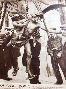 M3-4-Ephemera-1938-Picture-Article-1922-Eros-Statue-Taken-Down-Piccadilly
