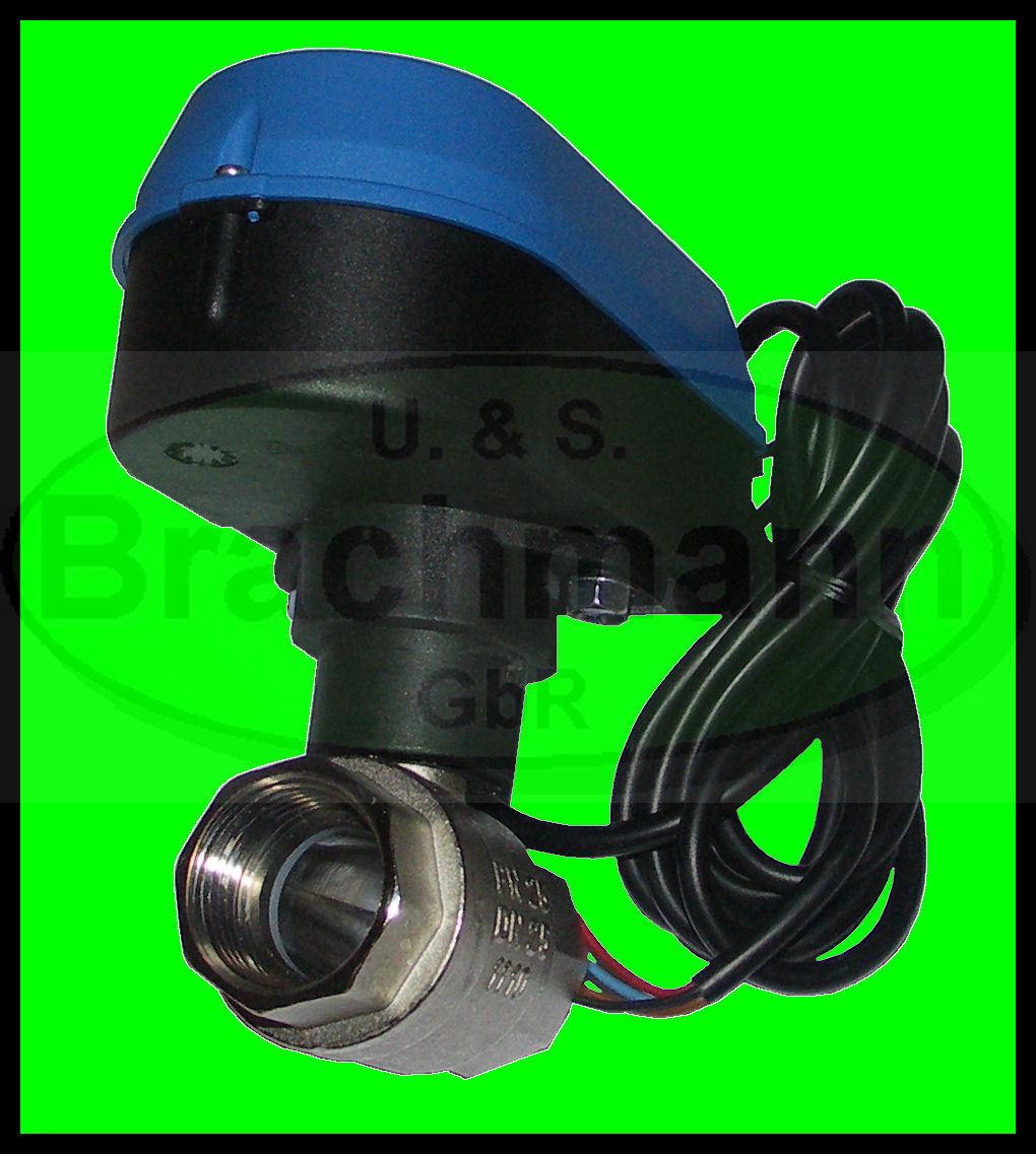 Válvula de bola 3 4  vávula de bola eléctrica DN 20, 230V 50 Hz, nuevo