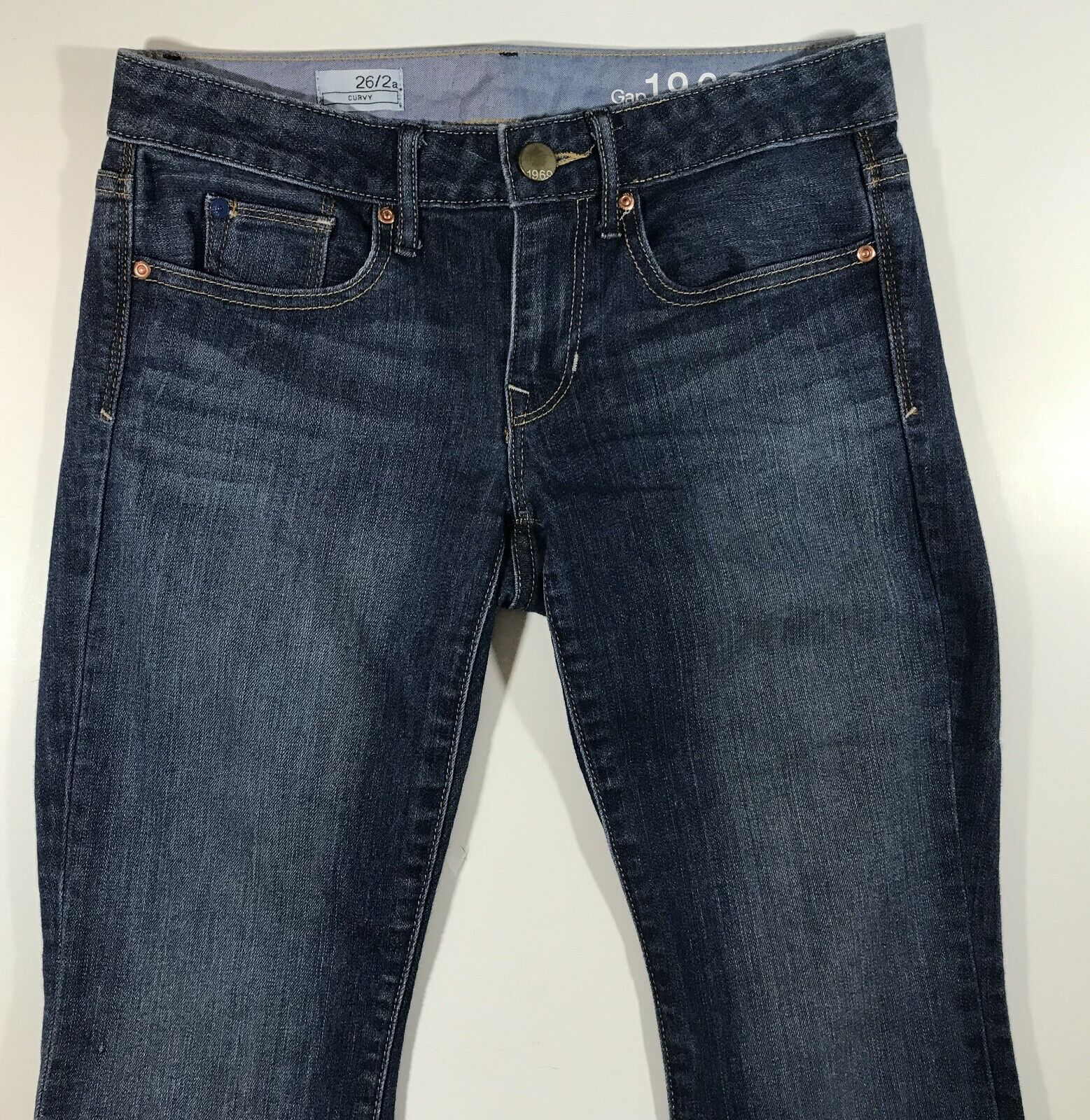 Gap 1969 - Curvy Jeans For Women's 26   2 bluee Pre-Owned 79% Cotton Denim