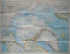Map-NORTH-POLE-Alaska-Arctic-Greenland-Canada-Amundsen-Peary-Byrd-Franklin