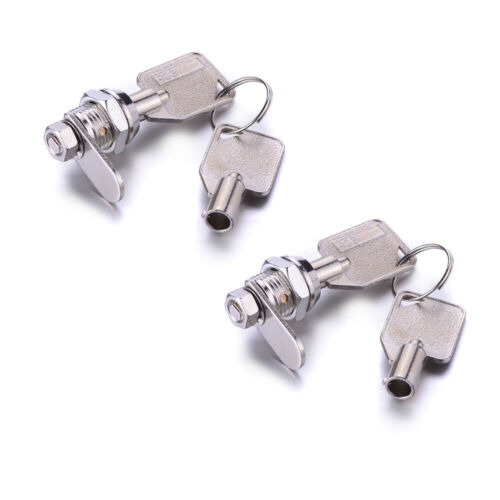 10mm Tubular Cam Lock Zinc Alloy+2Keys for Drawer Cabinet Desk Mailbox 1//2//6Pcs