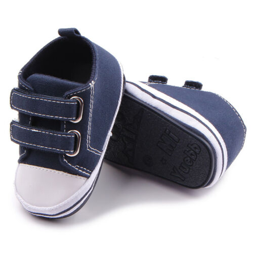 Baby Toile Chaussures dur semelle Infant Garçons Filles Sport Chaussures Antiglissant First Walkers