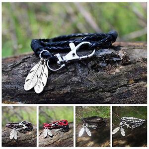 Moda-brazaletes-accesorios-joyeria-pulseras-cuero-de-la-PU-pulseras-del-encanto