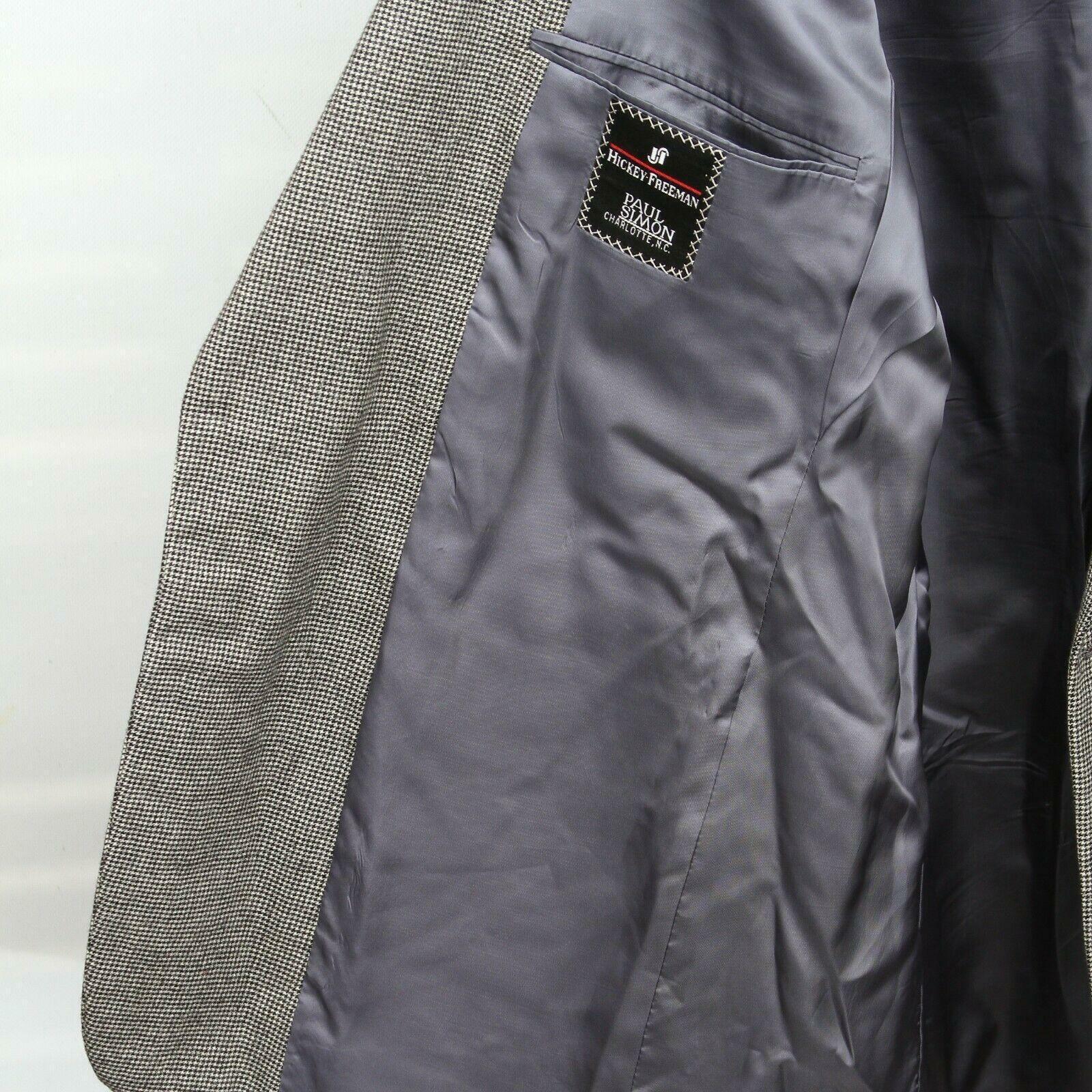 Hickey Freeman Paul Simon Gray White Black Wool H… - image 7