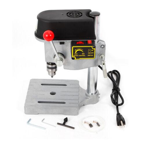 340W Mini Tischbohrmaschine Ständerbohrmaschine Mini Drill Press Table 0.6-6.5MM