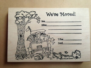 Image Is Loading Mounted Rubber Stamps We 039 Ve Moved Stamp