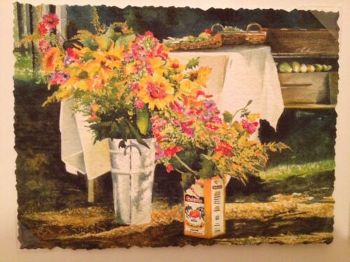 Linda Baker Set 3 Giclee Mini Prints Farmers Market All American Harvest 3 Pots