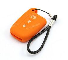 Orange Remote Silicone Case Cover For Kia 3 Buttons Smart Key K5 Optima K3OR