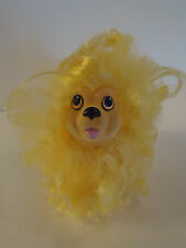 Vintage 1989 Sweetie Pups Dog Poodle Puppy w/ Gold Yellow Curly Hair Toy Hasbro