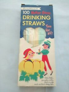 Vintage box Sweetheart paper drinking straws